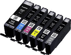 CANON PGI 550 + CLI 551 Tintenpatrone Multipack mehrfarbig (6496B005)
