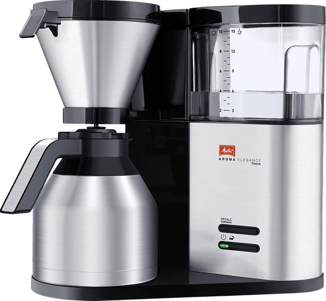 MELITTA 1012-04 Aroma Elegance Therm Filterkaffeemaschine  Schwarz/Edelstahl