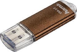 HAMA Laeta USB-Stick, Braun, 32 GB