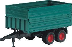 BRUDER Tandemachs-Transportanhänger Traktor-Zubehör, Mehrfarbig
