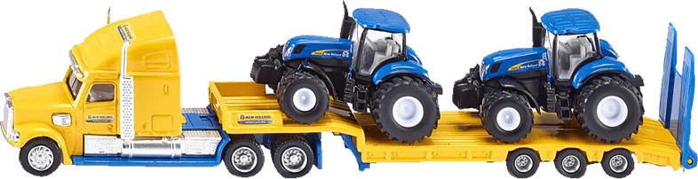 SIKU 1805 LKW mit New Holland Traktoren, LKW: Gelb/Blau Traktor: Blau