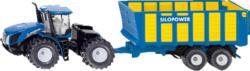 SIKU 1947 Traktor mit Silagewagen, Blau