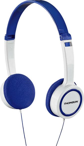 THOMSON HED1105 Kinder, On-ear Kopfhörer  Blau/Weiß