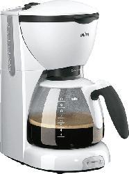 BRAUN CaféHouse PurAroma KF 520/1 Kaffeemaschine Weiß