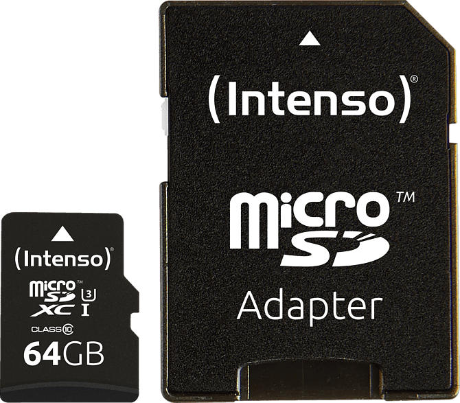 INTENSO 3433490 microSDXC, Class 10, Ultra High Speed (UHS-1), 64 GB, 90 MB/s