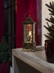 KONSTSMIDE 2888-000 Weihnachtsmann LED Schneelaterne,  Mehrfarbig,  Warmweiß
