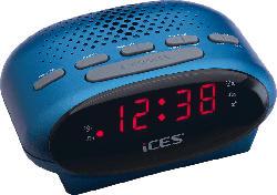 ICES ICR-210 Uhrenradio (PLL UKW Tuner, UKW, Blau)