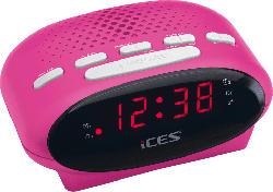 ICES ICR-210 Radio-Uhr (PLL UKW Tuner, UKW, Pink)