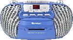 Media Markt KARCHER RR 5040 Boombox mit Kassettendeck Radio (Blau)