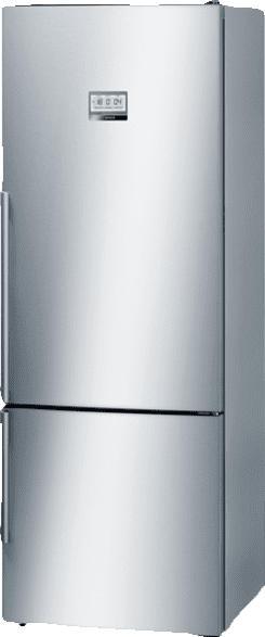BOSCH KGF 56 HI 40  Kühlgefrierkombination (A+++, 216 kWh/Jahr, 1930 mm hoch, Edelstahl)