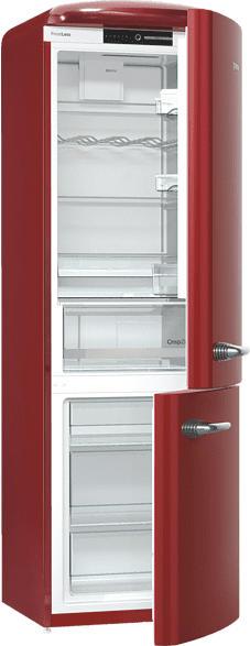 GORENJE ORK193R  Kühlgefrierkombination (A+++, 154 kWh/Jahr, 1940 mm hoch, Rot)