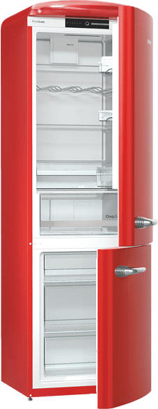 GORENJE ORK193RD  Kühlgefrierkombination (A+++, 154 kWh/Jahr, 1940 mm hoch, Rot)