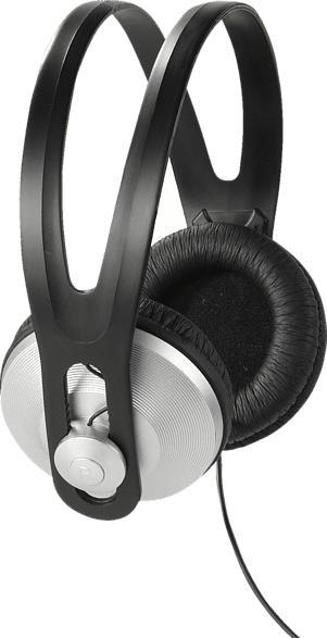 VIVANCO 36502, Over-ear Kopfhörer  Schwarz/Silber