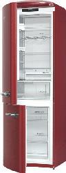 GORENJE ONRK193R-L  Kühlgefrierkombination (A+++, 168 kWh/Jahr, 1940 mm hoch, Rot)