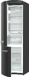 GORENJE ORK193BK-L Retro Collection Kühlgefrierkombination (A+++, 154 kWh/Jahr, 1940 mm hoch, Schwarz)
