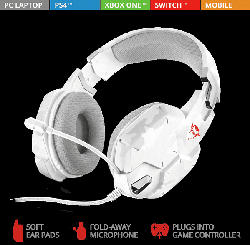 TRUST GXT 322W Gaming Headset Weiß/Camouflage