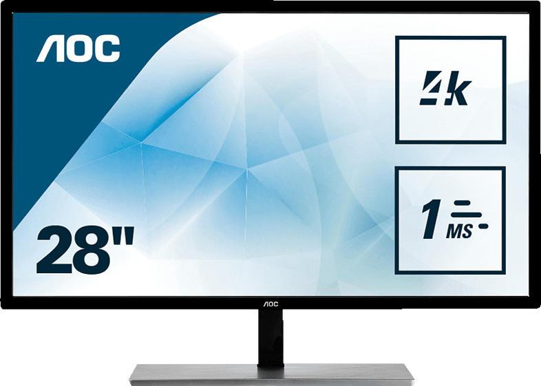 AOC U2879VF 28 Zoll UHD 4K Monitor (1 ms Reaktionszeit, FreeSync, 60 Hz)