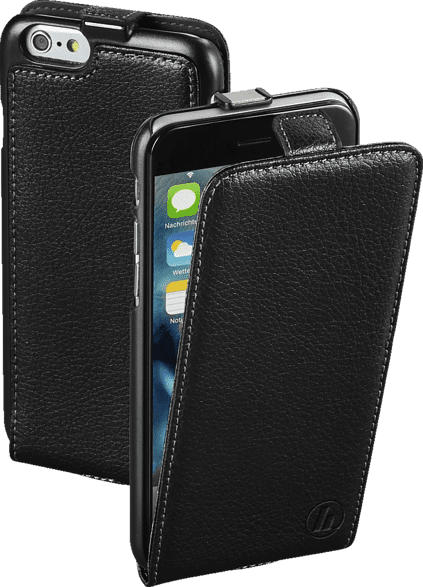 HAMA Smart , Flip Cover, Apple, iPhone 6, iPhone 6s, Echtleder (Obermaterial), Schwarz