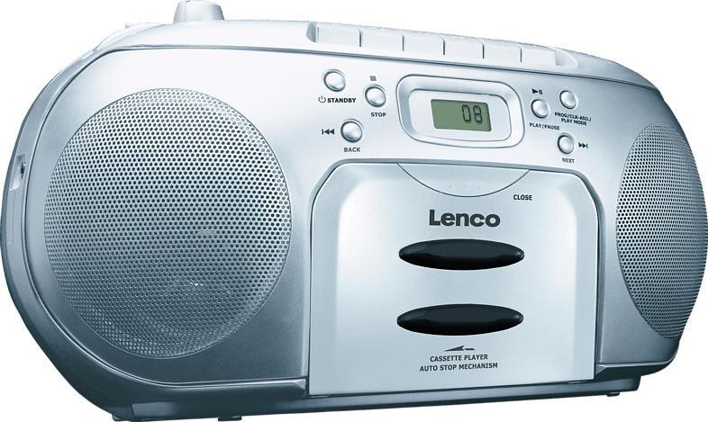 LENCO SCD420 mit Kassettendeck Radiorecorder (Silber)