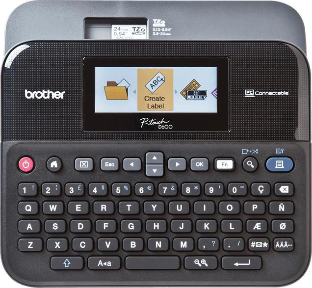 BROTHER PT-D600VP Beschriftungsgerät, Schwarz