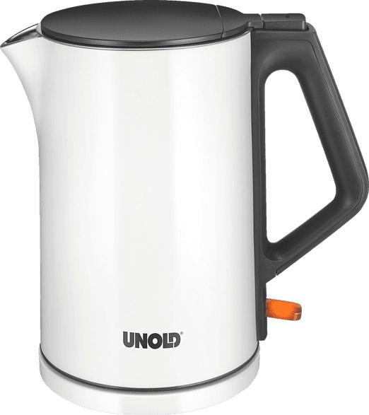 UNOLD 18520 Blitzkocher Design Wasserkocher, Weiß/Schwarz