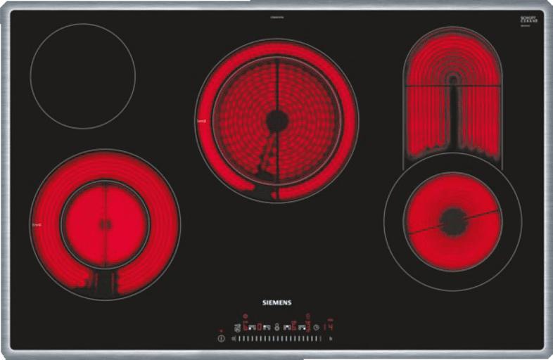 SIEMENS ET845FCP1D Glaskeramik (795 mm breit, 4 Kochfelder)