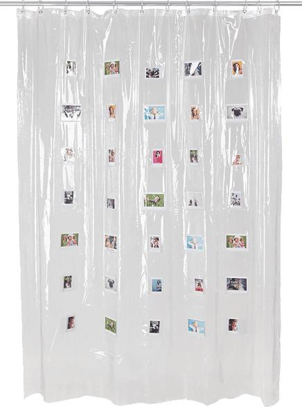 FUJIFILM Instax Mini Shower Curtain Duschvorhang, Weiß