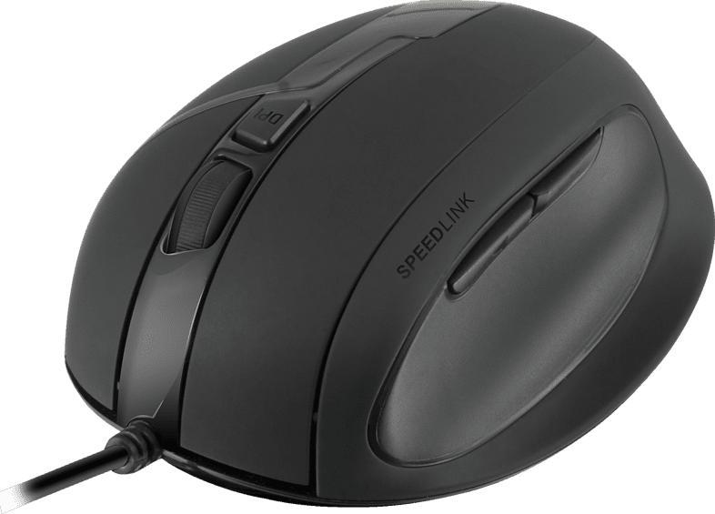 SPEEDLINK OBSIDIA ergonomische Maus, Schwarz