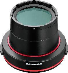 OLYMPUS PPO-EP03 Makro  Unterwasser-Objektiv-Anschluss, Schwarz/Rot