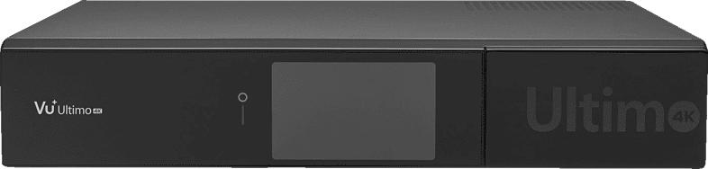 VU+ ULTIMO 4K 1X DVB-S2 FBC TWIN PVR READY DVB-S2 Receiver (HDTV, PVR-Funktion, Twin Tuner, DVB-S, DVB-S2, Schwarz)