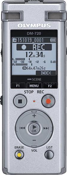OLYMPUS DM-720 Profi Diktiergerät, Silber