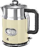 MediaMarkt RUSSELL HOBBS 21672-70 Retro Vintage Cream Wasserkocher, Creme/Edelstahl