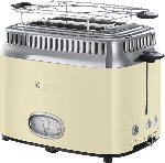 MediaMarkt RUSSELL HOBBS 21682-56 Retro Vintage Cream Toaster Creme/Edelstahl  (1300 Watt, Schlitze: 2)