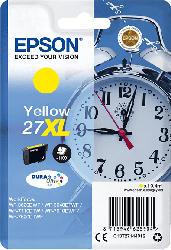 EPSON Original Tintenpatrone Wecker Gelb (C13T27144012)