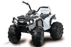 JAMARA KIDS Ride-on Quad Protector weiß 12V Rutscher, Weiß/Schwarz