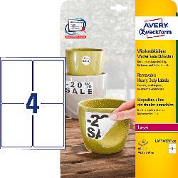 AVERY ZWECKFORM L4774REV-20 Wetterfeste Etiketten 99,1 x 139 mm 99,1 x 139 mm A4  80 Etiketten / 20 Bogen