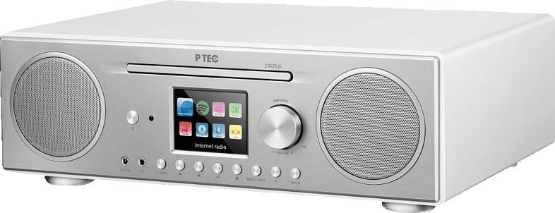 ATEMIO PTEC Pilatus  Radio (Digital, Weiß/Silber)