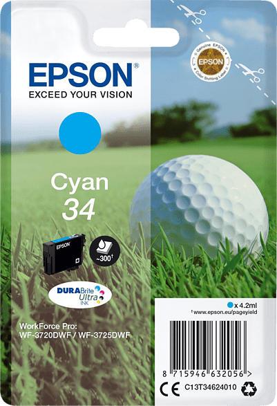 EPSON Original Tintenpatrone Golfball Cyan (C13T34624010    )