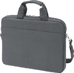 DICOTA Slim Case BASE Notebooktasche, Umhängetasche, Grau