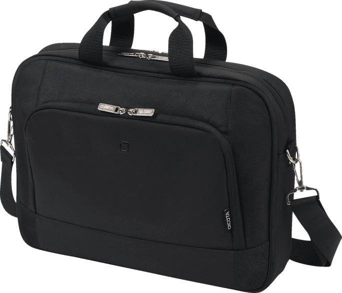 DICOTA Top Traveller BASE Notebooktasche, Umhängetasche, Schwarz