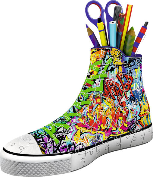 RAVENSBURGER Sneaker - Graffiti Style 3D Puzzle, Mehrfarbig