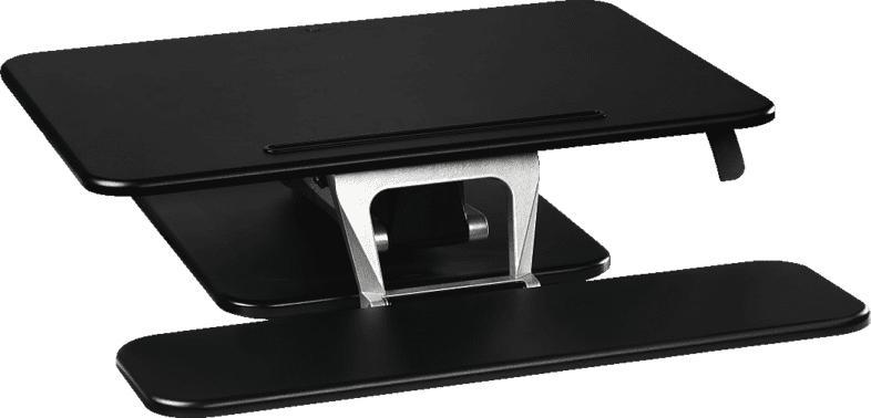 HAMA M (80,0 x 52,0) Aufsatz für Sitz-Steh-Arbeitsplatz, Schwarz