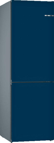BOSCH KVN39IN4A Vario Style mit austauschbaren Farbfronten  Kühlgefrierkombination (A+++, 182 kWh/Jahr, 2030 mm hoch, Perlnachtblau)