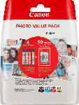 MediaMarkt CANON CLI-581 Photo Value Pack inkl. 50 Blatt Canon Fotopapier PP-201 Tintenpatrone Mehrfarbig (2106C005AA)