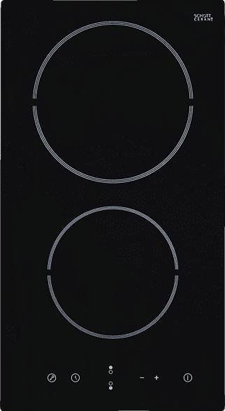 EXQUISIT EKC 301-3 Elektrokochfeld (282 mm breit, 2 Kochfelder)