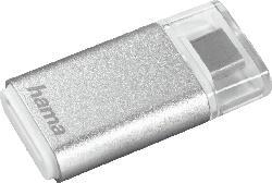 HAMA USB-3.1-Typ-C-OTG Kartenleser, Silber