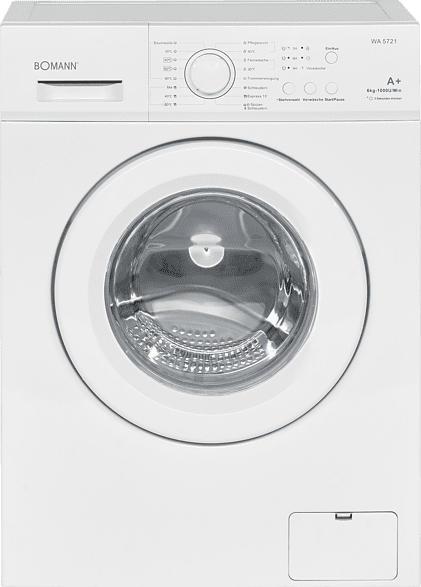 BOMANN WA 5721  Waschmaschine (6 kg, 1000 U/Min., A+)
