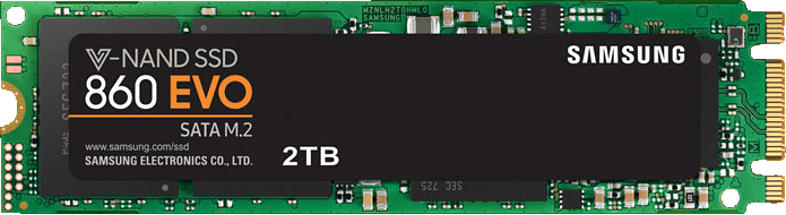 SAMSUNG SATA SSD 860 EVO M.2, 2 TB SSD, intern