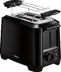 TEFAL TT1408 Uno Toaster Schwarz (800 Watt, Schlitze: 2)