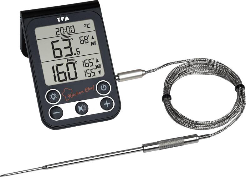 TFA 14.1512.01 Küchen Chef Digitales Grill-Braten-/Ofenthermometer